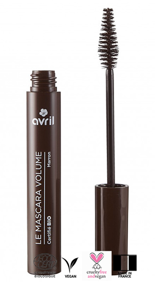 Mascara marron bio waterproof